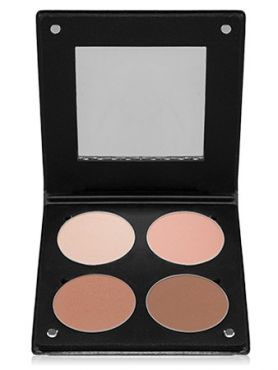 Make-Up Atelier Paris Palette Blush Powder 3D  BL3DN Nude Румяна в палитре на 4 цвета нюд с зеркалом