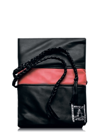 Make-Up Atelier Paris Чехол для кистей №7 черный двурядный, шнурки-плетение