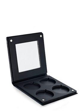 Make-Up Atelier Paris Палитра-кейс на 4 цвета с зеркалом для пудры, теней и румян, черная