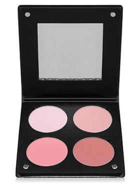 Make-Up Atelier Paris Palette Blush Powder 3D  BL3DR Rose Румяна в палитре на 4 цвета роза с зеркалом