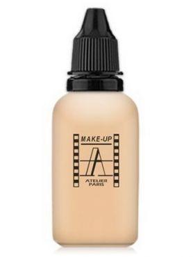 Make-Up Atelier Paris HD Fluid Foundation Beige AIR2B Natural beige clear Тон-флюид водостойкий для аэрографа 2B светло-бежевый