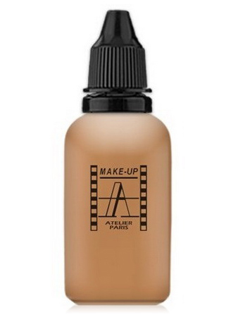 Make-Up Atelier Paris HD Fluid Foundation Beige AIR5NB Natural beige honey Тон-флюид водостойкий для аэрографа 5NB нейтральный бежевый